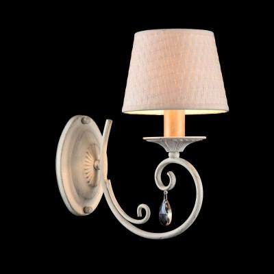 Бра Maytoni ARM548-01-WG EnnaСовременные<br><br><br>Тип лампы: Накаливания / энергосбережения / светодиодная<br>Тип цоколя: E14<br>Количество ламп: 1<br>Ширина, мм: 150<br>MAX мощность ламп, Вт: 40<br>Расстояние от стены, мм: 260<br>Высота, мм: 290<br>Цвет арматуры: Белое золотой