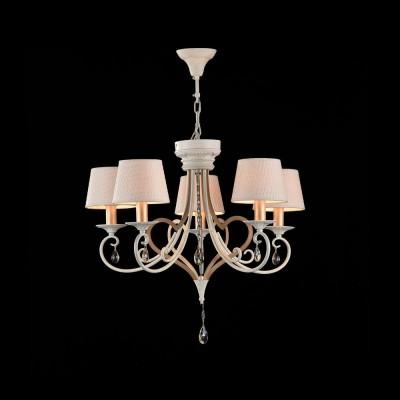 Люстра Maytoni ARM548-05-WG EnnaПодвесные<br><br><br>S освещ. до, м2: 10<br>Тип лампы: Накаливания / энергосбережения / светодиодная<br>Тип цоколя: E14<br>Цвет арматуры: Белый с золотом<br>Количество ламп: 5<br>Диаметр, мм мм: 650<br>Высота, мм: 570 - 1570<br>MAX мощность ламп, Вт: 40