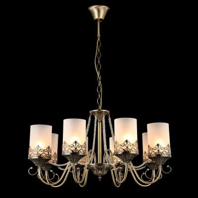 Светильник Maytoni ARM563-08-RПодвесные<br><br><br>Установка на натяжной потолок: Да<br>S освещ. до, м2: 24<br>Крепление: Крюк<br>Тип товара: Люстра<br>Тип лампы: Накаливания / энергосбережения / светодиодная<br>Тип цоколя: E14<br>Количество ламп: 8<br>MAX мощность ламп, Вт: 60<br>Диаметр, мм мм: 880<br>Высота, мм: 980<br>Цвет арматуры: бронзовый