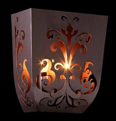 Светильник Maytoni ARM610-02-R Elegant 51Рустика<br><br><br>S освещ. до, м2: 5<br>Тип товара: Светильник настенный бра<br>Скидка, %: 20<br>Тип лампы: накаливания / энергосбережения / LED-светодиодная<br>Тип цоколя: E14<br>Количество ламп: 2<br>Ширина, мм: 140<br>MAX мощность ламп, Вт: 40<br>Длина, мм: 240<br>Расстояние от стены, мм: 140<br>Высота, мм: 280<br>Цвет арматуры: коричневый