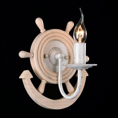 Светильник бра Maytoni ARM624-01-W FrigateМорской стиль<br><br><br>Тип лампы: накаливания / энергосбережения / LED-светодиодная<br>Тип цоколя: E14<br>Количество ламп: 1<br>MAX мощность ламп, Вт: 60<br>Диаметр, мм мм: 227<br>Высота, мм: 236<br>Цвет арматуры: белый