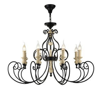 Люстра Maytoni ARM631-08-B KarinaПодвесные<br><br><br>Установка на натяжной потолок: Да<br>S освещ. до, м2: 24<br>Тип цоколя: E14<br>Количество ламп: 8<br>Диаметр, мм мм: 880<br>Высота, мм: 610<br>MAX мощность ламп, Вт: 60