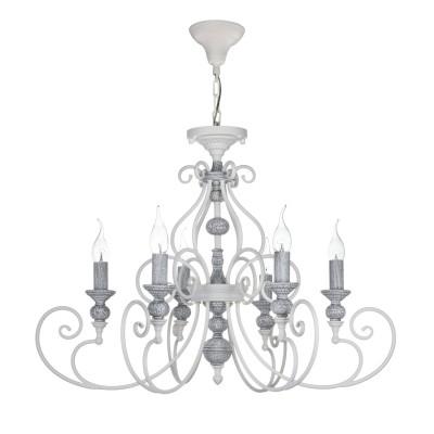 Люстра Maytoni ARM631-PL-06-W Karinaлюстры подвесные классические<br><br><br>S освещ. до, м2: 24<br>Тип лампы: накаливания / энергосбережения / LED-светодиодная<br>Тип цоколя: E14<br>Цвет арматуры: Белый<br>Количество ламп: 8<br>Глубина, мм: 880<br>Оттенок (цвет): Белый<br>MAX мощность ламп, Вт: 60