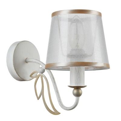 Светильник бра Maytoni ARM824-WL-01-W DafniФлористика<br><br><br>Тип цоколя: E14<br>Цвет арматуры: Белый и золотой с патинированием<br>Количество ламп: 1<br>Ширина, мм: 230<br>Диаметр, мм мм: 130<br>Оттенок (цвет): Белый и золотой с патинированием<br>MAX мощность ламп, Вт: 40