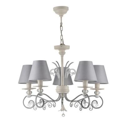 Люстра Maytoni ARM993-PL-05-W WingsПодвесные<br><br><br>S освещ. до, м2: 10<br>Тип лампы: накаливания / энергосбережения / LED-светодиодная<br>Тип цоколя: E14<br>Цвет арматуры: Белый<br>Количество ламп: 5<br>Диаметр, мм мм: 650<br>Оттенок (цвет): Белый<br>MAX мощность ламп, Вт: 40