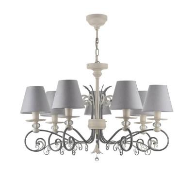 Люстра Maytoni ARM993-PL-07-W Wingsлюстры подвесные классические<br><br><br>S освещ. до, м2: 14<br>Тип лампы: накаливания / энергосбережения / LED-светодиодная<br>Тип цоколя: E14<br>Цвет арматуры: Белый<br>Количество ламп: 7<br>Диаметр, мм мм: 750<br>Оттенок (цвет): Белый<br>MAX мощность ламп, Вт: 40