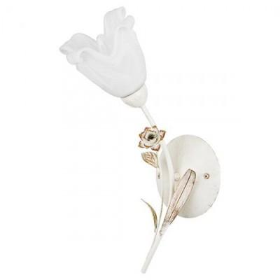 Alfa LENA 10510 настенный светильникбра флористика и цветы<br><br><br>Крепление: Настенное<br>Тип лампы: Накаливания / энергосбережения / светодиодная<br>Тип цоколя: E14<br>Цвет арматуры: Белый патина, Бежевый<br>Количество ламп: 1<br>Ширина, мм: 120<br>Размеры: размер коробки 260x210x180см.<br>Расстояние от стены, мм: 220<br>Высота, мм: 450<br>MAX мощность ламп, Вт: 40