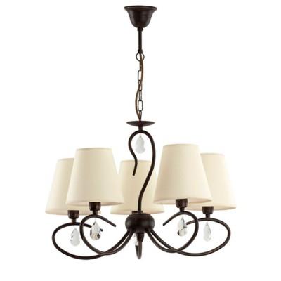 Светильник Alfa 14595Подвесные<br><br><br>Тип лампы: Накаливания / энергосбережения / светодиодная<br>Тип цоколя: E14<br>Количество ламп: 5<br>MAX мощность ламп, Вт: 40<br>Диаметр, мм мм: 670<br>Высота, мм: 700 - 1000<br>Цвет арматуры: венге