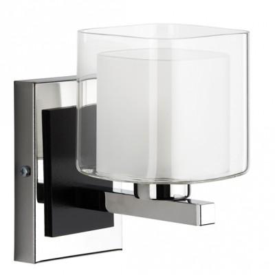 Alfa SQUARE 16330 настенный светильникСовременные<br><br><br>Крепление: Настенное<br>Тип лампы: Накаливания / энергосбережения / светодиодная<br>Тип цоколя: E14<br>Цвет арматуры: серебристый хром, Венге<br>Количество ламп: 1<br>Диаметр, мм мм: 120<br>Размеры: размер коробки 260x210x180см.<br>Высота, мм: 160<br>MAX мощность ламп, Вт: 40