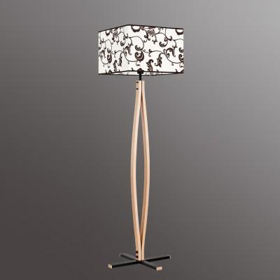 Alfa AWANS 9235 напольный светильникОжидается<br><br><br>Тип цоколя: E27<br>Цвет арматуры: Светлое дерево, Венге<br>Количество ламп: 1<br>Ширина, мм: 460<br>Высота, мм: 1620<br>Оттенок (цвет): Белый с рисунком<br>MAX мощность ламп, Вт: 60