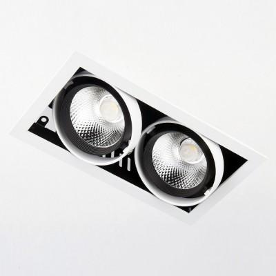 Светильник встраиваемый Ambrella T812 BK/CH 2*12W 4200KКарданные светильники<br>Встраиваемый светодиодный светильник T812 BK/CH 2*12W 4200K – продукт российской компании Ambrella, известной качеством и доступностью выпускаемой светотехники. Дизайн модели сделан в стиле техно, материал изготовления – металл. Степень пылевлагозащиты IP20, поэтому использовать устройство можно только в сухих помещениях. Патрон рассчитан на лампочки с цоколем 2xLED. Максимальная мощность в 24 Вт позволяет освещать 5 кв. м. Заказывайте встраиваемый светодиодный светильник T812 BK/CH 2*12W 4200K с удобной доставкой на нашем сайте.