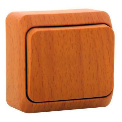 Lexel Этюд Дача Темный бук Переключатель 1-клавишныйДача<br><br><br>Оттенок (цвет): под дерево