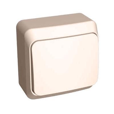 Lexel Этюд Одноклавишный переключатель (СХ. 6) кремовый (накладные) (BA10-004k)Крем<br><br><br>Оттенок (цвет): бежевый