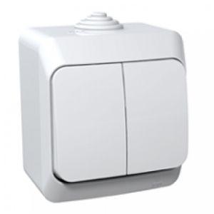 Lexel Этюд Одноклавишный выключатель ( СХ. 1 ) белый (накладные) (BA10-041b)Белый<br><br><br>Оттенок (цвет): белый