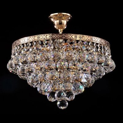Люстра Maytoni BA783-TK38-G GalaПотолочные<br>Прибор, который можно рассмотреть на предлагаемом фото, рассчитан на подключение шести ламп с цоколем E27 и разработан для комнат, выполненных в классическом стиле барокко. Хрустальная люстра, конструкция которой удачно сочетает металл аристократичного золотого цвета и прозрачный хрусталь, способна подчеркнуть изысканный вкус хозяина, решившего купить изделие от Maytoni по лояльной цене, предложенной нашим магазином. Штанга, несущая обод, наделенный декоративным рельефным рисунком, отлично сочетающимся с общей концепцией хрустальной люстры от Майтони, удерживает целую «гроздь» подвесок, сияющих при каждом включении предлагаемого прибора. Приятно, что стоимость хрустальной люстры Maytoni Diamant Crystal BA783-TK38-G предполагает наличие высоких технических характеристик, делающих приобретение удачным и бескомпромиссными.<br><br>Установка на натяжной потолок: Да<br>S освещ. до, м2: 24<br>Крепление: Крюк<br>Тип лампы: накаливания / энергосбережения / LED-светодиодная<br>Тип цоколя: E27<br>Количество ламп: 6<br>MAX мощность ламп, Вт: 60<br>Диаметр, мм мм: 410<br>Высота, мм: 320<br>Цвет арматуры: золотой