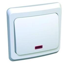 Lexel Этюд Одноклавишный выключатель с подсветкой (СХ.1) белый (скр.устан.) (BC10-005b)Белый<br><br><br>Оттенок (цвет): белый