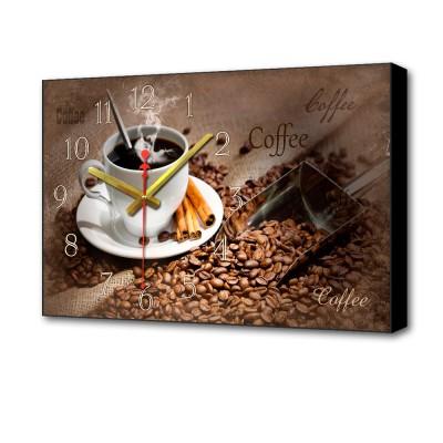 Картина с часами BL-2211 Topposters чашка кофеКартины с часами<br>Габариты: 37х60х4 см. Кварцевый механизм с плавным ходом, обрамление МДФ. Батарея 1xAA, не комплектуется. Упаковка: картон, размер 39 х 63 х 6 см. Вес: 1 кг.<br>