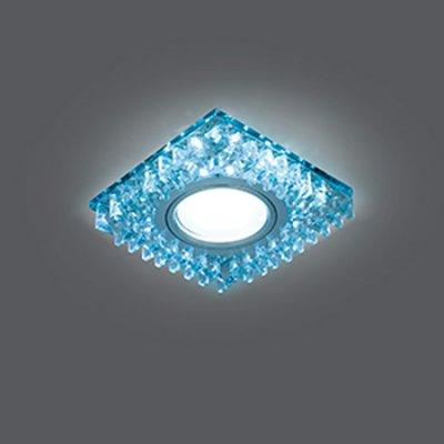 Светильник Gauss Backlight BL030 Квадрат. Кристал/Хром, Gu5.3, LED 4100KХрустальные<br>Встраиваемые светильники – популярное осветительное оборудование, которое можно использовать в качестве основного источника или в дополнение к люстре. Они позволяют создать нужную атмосферу атмосферу и привнести в интерьер уют и комфорт.   Интернет-магазин «Светодом» предлагает стильный встраиваемый светильник Gauss Backlight BL030. Данная модель достаточно универсальна, поэтому подойдет практически под любой интерьер. Перед покупкой не забудьте ознакомиться с техническими параметрами, чтобы узнать тип цоколя, площадь освещения и другие важные характеристики.   Приобрести встраиваемый светильник Gauss Backlight BL030 в нашем онлайн-магазине Вы можете либо с помощью «Корзины», либо по контактным номерам. Мы развозим заказы по Москве, Екатеринбургу и остальным российским городам.<br><br>S освещ. до, м2: 3<br>Тип лампы: галогенная/LED<br>Тип цоколя: GU5.3 (MR16)<br>Количество ламп: 1<br>Ширина, мм: 95<br>MAX мощность ламп, Вт: 50<br>Диаметр врезного отверстия, мм: 65<br>Высота, мм: 35<br>Цвет арматуры: серебристый