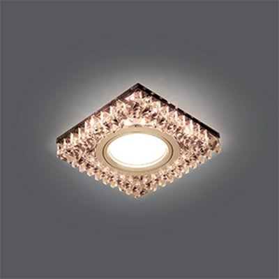 Светильник Gauss Backlight BL031 Квадрат. Черн.Кристал/Хром, Gu5.3, LED 2700KХрустальные<br>Встраиваемые светильники – популярное осветительное оборудование, которое можно использовать в качестве основного источника или в дополнение к люстре. Они позволяют создать нужную атмосферу атмосферу и привнести в интерьер уют и комфорт.   Интернет-магазин «Светодом» предлагает стильный встраиваемый светильник Gauss Backlight BL031. Данная модель достаточно универсальна, поэтому подойдет практически под любой интерьер. Перед покупкой не забудьте ознакомиться с техническими параметрами, чтобы узнать тип цоколя, площадь освещения и другие важные характеристики.   Приобрести встраиваемый светильник Gauss Backlight BL031 в нашем онлайн-магазине Вы можете либо с помощью «Корзины», либо по контактным номерам. Мы развозим заказы по Москве, Екатеринбургу и остальным российским городам.<br><br>S освещ. до, м2: 3<br>Тип лампы: галогенная/LED<br>Тип цоколя: GU5.3 (MR16)<br>Количество ламп: 1<br>Ширина, мм: 95<br>MAX мощность ламп, Вт: 50<br>Диаметр врезного отверстия, мм: 65<br>Длина, мм: 95<br>Высота, мм: 35<br>Цвет арматуры: серебристый