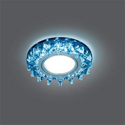 Светильник Gauss Backlight BL036 Кругл. Черный/Кристалл/Хром, Gu5.3, LED 4100KХрустальные<br>Встраиваемые светильники – популярное осветительное оборудование, которое можно использовать в качестве основного источника или в дополнение к люстре. Они позволяют создать нужную атмосферу атмосферу и привнести в интерьер уют и комфорт.   Интернет-магазин «Светодом» предлагает стильный встраиваемый светильник Gauss Backlight BL036. Данная модель достаточно универсальна, поэтому подойдет практически под любой интерьер. Перед покупкой не забудьте ознакомиться с техническими параметрами, чтобы узнать тип цоколя, площадь освещения и другие важные характеристики.   Приобрести встраиваемый светильник Gauss Backlight BL036 в нашем онлайн-магазине Вы можете либо с помощью «Корзины», либо по контактным номерам. Мы развозим заказы по Москве, Екатеринбургу и остальным российским городам.<br><br>S освещ. до, м2: 3<br>Тип лампы: галогенная/LED<br>Тип цоколя: GU5.3 (MR16)<br>Количество ламп: 1<br>MAX мощность ламп, Вт: 50<br>Диаметр, мм мм: 95<br>Диаметр врезного отверстия, мм: 65<br>Высота, мм: 35<br>Цвет арматуры: серебристый