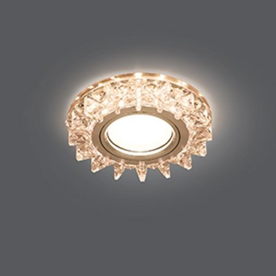 Светильник Gauss Backlight BL037 Кругл. Кристалл/Хром, Gu5.3, LED 2700KХрустальные<br>Встраиваемые светильники – популярное осветительное оборудование, которое можно использовать в качестве основного источника или в дополнение к люстре. Они позволяют создать нужную атмосферу атмосферу и привнести в интерьер уют и комфорт.   Интернет-магазин «Светодом» предлагает стильный встраиваемый светильник Gauss Backlight BL037. Данная модель достаточно универсальна, поэтому подойдет практически под любой интерьер. Перед покупкой не забудьте ознакомиться с техническими параметрами, чтобы узнать тип цоколя, площадь освещения и другие важные характеристики.   Приобрести встраиваемый светильник Gauss Backlight BL037 в нашем онлайн-магазине Вы можете либо с помощью «Корзины», либо по контактным номерам. Мы развозим заказы по Москве, Екатеринбургу и остальным российским городам.<br><br>S освещ. до, м2: 3<br>Тип лампы: галогенная/LED<br>Тип цоколя: GU5.3 (MR16)<br>Количество ламп: 1<br>MAX мощность ламп, Вт: 50<br>Диаметр, мм мм: 95<br>Диаметр врезного отверстия, мм: 65<br>Высота, мм: 35<br>Цвет арматуры: серебристый