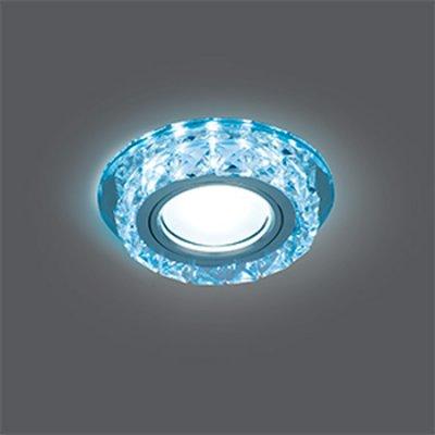 Светильник Gauss Backlight BL040 Кругл. Кристалл/Хром, Gu5.3, LED 4100KХрустальные<br>Встраиваемые светильники – популярное осветительное оборудование, которое можно использовать в качестве основного источника или в дополнение к люстре. Они позволяют создать нужную атмосферу атмосферу и привнести в интерьер уют и комфорт.   Интернет-магазин «Светодом» предлагает стильный встраиваемый светильник Gauss Backlight BL040. Данная модель достаточно универсальна, поэтому подойдет практически под любой интерьер. Перед покупкой не забудьте ознакомиться с техническими параметрами, чтобы узнать тип цоколя, площадь освещения и другие важные характеристики.   Приобрести встраиваемый светильник Gauss Backlight BL040 в нашем онлайн-магазине Вы можете либо с помощью «Корзины», либо по контактным номерам. Мы развозим заказы по Москве, Екатеринбургу и остальным российским городам.<br><br>S освещ. до, м2: 3<br>Тип лампы: галогенная/LED<br>Тип цоколя: GU5.3 (MR16)<br>Количество ламп: 1<br>MAX мощность ламп, Вт: 50<br>Диаметр, мм мм: 95<br>Диаметр врезного отверстия, мм: 65<br>Высота, мм: 35<br>Цвет арматуры: серебристый
