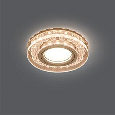 Светильник Gauss Backlight BL044 Кругл. Кристалл/Хром, Gu5.3, LED 2700KХрустальные<br>Встраиваемые светильники – популярное осветительное оборудование, которое можно использовать в качестве основного источника или в дополнение к люстре. Они позволяют создать нужную атмосферу атмосферу и привнести в интерьер уют и комфорт.   Интернет-магазин «Светодом» предлагает стильный встраиваемый светильник Gauss Backlight BL044. Данная модель достаточно универсальна, поэтому подойдет практически под любой интерьер. Перед покупкой не забудьте ознакомиться с техническими параметрами, чтобы узнать тип цоколя, площадь освещения и другие важные характеристики.   Приобрести встраиваемый светильник Gauss Backlight BL044 в нашем онлайн-магазине Вы можете либо с помощью «Корзины», либо по контактным номерам. Мы развозим заказы по Москве, Екатеринбургу и остальным российским городам.<br><br>S освещ. до, м2: 3<br>Тип лампы: галогенная/LED<br>Тип цоколя: GU5.3 (MR16)<br>Количество ламп: 1<br>MAX мощность ламп, Вт: 50<br>Диаметр, мм мм: 95<br>Диаметр врезного отверстия, мм: 65<br>Высота, мм: 35<br>Цвет арматуры: серебристый