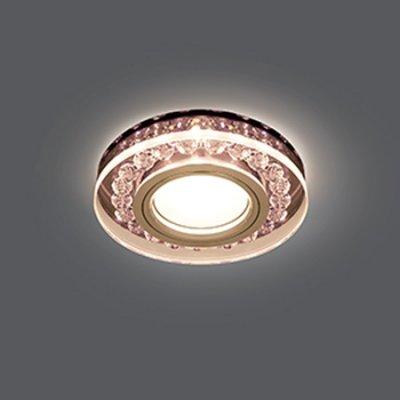 Светильник Gauss Backlight BL046 Кругл. Черный/Кристалл/Хром, Gu5.3, LED 2700KХрустальные<br>Встраиваемые светильники – популярное осветительное оборудование, которое можно использовать в качестве основного источника или в дополнение к люстре. Они позволяют создать нужную атмосферу атмосферу и привнести в интерьер уют и комфорт.   Интернет-магазин «Светодом» предлагает стильный встраиваемый светильник Gauss Backlight BL046. Данная модель достаточно универсальна, поэтому подойдет практически под любой интерьер. Перед покупкой не забудьте ознакомиться с техническими параметрами, чтобы узнать тип цоколя, площадь освещения и другие важные характеристики.   Приобрести встраиваемый светильник Gauss Backlight BL046 в нашем онлайн-магазине Вы можете либо с помощью «Корзины», либо по контактным номерам. Мы развозим заказы по Москве, Екатеринбургу и остальным российским городам.<br><br>S освещ. до, м2: 3<br>Тип лампы: галогенная/LED<br>Тип цоколя: GU5.3 (MR16)<br>Количество ламп: 1<br>MAX мощность ламп, Вт: 50<br>Диаметр, мм мм: 95<br>Диаметр врезного отверстия, мм: 65<br>Высота, мм: 35<br>Цвет арматуры: серебристый