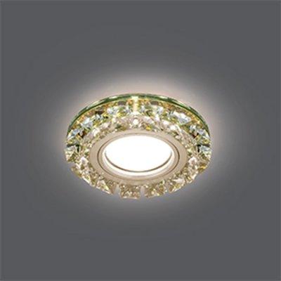 Светильник Gauss Backlight BL053 Кругл. Шампань/Кристалл/Хром, Gu5.3, LED 2700KХрустальные<br>Встраиваемые светильники – популярное осветительное оборудование, которое можно использовать в качестве основного источника или в дополнение к люстре. Они позволяют создать нужную атмосферу атмосферу и привнести в интерьер уют и комфорт.   Интернет-магазин «Светодом» предлагает стильный встраиваемый светильник Gauss Backlight BL053. Данная модель достаточно универсальна, поэтому подойдет практически под любой интерьер. Перед покупкой не забудьте ознакомиться с техническими параметрами, чтобы узнать тип цоколя, площадь освещения и другие важные характеристики.   Приобрести встраиваемый светильник Gauss Backlight BL053 в нашем онлайн-магазине Вы можете либо с помощью «Корзины», либо по контактным номерам. Мы развозим заказы по Москве, Екатеринбургу и остальным российским городам.<br><br>S освещ. до, м2: 3<br>Тип лампы: галогенная/LED<br>Тип цоколя: GU5.3 (MR16)<br>Количество ламп: 1<br>MAX мощность ламп, Вт: 50<br>Диаметр, мм мм: 95<br>Диаметр врезного отверстия, мм: 65<br>Высота, мм: 35<br>Цвет арматуры: серебристый