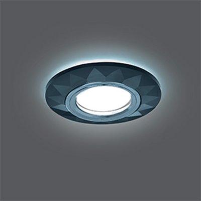 Светильник Gauss Backlight BL058 Круг Гран. Графит/Хром, Gu5.3, LED 4100KКруглые<br>Встраиваемые светильники – популярное осветительное оборудование, которое можно использовать в качестве основного источника или в дополнение к люстре. Они позволяют создать нужную атмосферу атмосферу и привнести в интерьер уют и комфорт.   Интернет-магазин «Светодом» предлагает стильный встраиваемый светильник Gauss Backlight BL058. Данная модель достаточно универсальна, поэтому подойдет практически под любой интерьер. Перед покупкой не забудьте ознакомиться с техническими параметрами, чтобы узнать тип цоколя, площадь освещения и другие важные характеристики.   Приобрести встраиваемый светильник Gauss Backlight BL058 в нашем онлайн-магазине Вы можете либо с помощью «Корзины», либо по контактным номерам. Мы развозим заказы по Москве, Екатеринбургу и остальным российским городам.<br><br>S освещ. до, м2: 3<br>Тип лампы: галогенная/LED<br>Тип цоколя: GU5.3 (MR16)<br>Количество ламп: 1<br>MAX мощность ламп, Вт: 50<br>Диаметр, мм мм: 95<br>Диаметр врезного отверстия, мм: 65<br>Высота, мм: 25<br>Цвет арматуры: серебристый