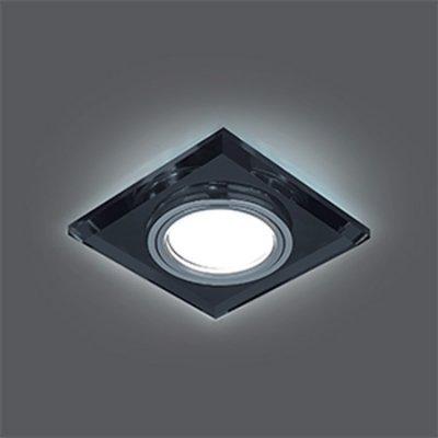 Светильник Gauss Backlight BL060 Квадрат. Графит/Хром, Gu5.3, LED 4100K