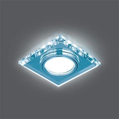 Светильник Gauss Backlight BL062 Квадрат. Кристалл/Хром, Gu5.3, LED 4100KКвадратные<br>Встраиваемые светильники – популярное осветительное оборудование, которое можно использовать в качестве основного источника или в дополнение к люстре. Они позволяют создать нужную атмосферу атмосферу и привнести в интерьер уют и комфорт.   Интернет-магазин «Светодом» предлагает стильный встраиваемый светильник Gauss Backlight BL062. Данная модель достаточно универсальна, поэтому подойдет практически под любой интерьер. Перед покупкой не забудьте ознакомиться с техническими параметрами, чтобы узнать тип цоколя, площадь освещения и другие важные характеристики.   Приобрести встраиваемый светильник Gauss Backlight BL062 в нашем онлайн-магазине Вы можете либо с помощью «Корзины», либо по контактным номерам. Мы развозим заказы по Москве, Екатеринбургу и остальным российским городам.<br><br>S освещ. до, м2: 3<br>Тип лампы: галогенная/LED<br>Тип цоколя: GU5.3 (MR16)<br>Количество ламп: 1<br>Ширина, мм: 90<br>MAX мощность ламп, Вт: 50<br>Диаметр врезного отверстия, мм: 65<br>Длина, мм: 90<br>Высота, мм: 25<br>Цвет арматуры: серебристый