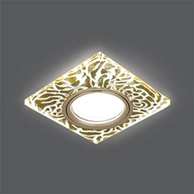 Светильник Gauss Backlight BL063 Квадрат. Золотой узор/Золото, Gu5.3, LED 2700K