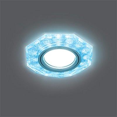 Светильник Gauss Backlight BL066 Восемь гран. Белый/Серебро/Хром, Gu5.3, LED 4100KКруглые<br>Встраиваемые светильники – популярное осветительное оборудование, которое можно использовать в качестве основного источника или в дополнение к люстре. Они позволяют создать нужную атмосферу атмосферу и привнести в интерьер уют и комфорт.   Интернет-магазин «Светодом» предлагает стильный встраиваемый светильник Gauss Backlight BL066. Данная модель достаточно универсальна, поэтому подойдет практически под любой интерьер. Перед покупкой не забудьте ознакомиться с техническими параметрами, чтобы узнать тип цоколя, площадь освещения и другие важные характеристики.   Приобрести встраиваемый светильник Gauss Backlight BL066 в нашем онлайн-магазине Вы можете либо с помощью «Корзины», либо по контактным номерам. Мы развозим заказы по Москве, Екатеринбургу и остальным российским городам.<br><br>S освещ. до, м2: 3<br>Тип лампы: галогенная/LED<br>Тип цоколя: GU5.3 (MR16)<br>Количество ламп: 1<br>MAX мощность ламп, Вт: 50<br>Диаметр, мм мм: 90<br>Диаметр врезного отверстия, мм: 65<br>Высота, мм: 25<br>Цвет арматуры: серебристый
