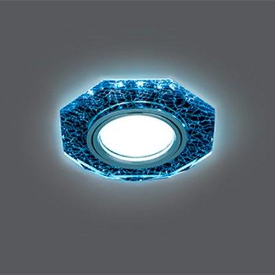 Светильник Gauss Backlight BL069 Восемь гран. Черный/Серебро/Хром, Gu5.3, LED 4100KКруглые<br>Встраиваемые светильники – популярное осветительное оборудование, которое можно использовать в качестве основного источника или в дополнение к люстре. Они позволяют создать нужную атмосферу атмосферу и привнести в интерьер уют и комфорт.   Интернет-магазин «Светодом» предлагает стильный встраиваемый светильник Gauss Backlight BL069. Данная модель достаточно универсальна, поэтому подойдет практически под любой интерьер. Перед покупкой не забудьте ознакомиться с техническими параметрами, чтобы узнать тип цоколя, площадь освещения и другие важные характеристики.   Приобрести встраиваемый светильник Gauss Backlight BL069 в нашем онлайн-магазине Вы можете либо с помощью «Корзины», либо по контактным номерам. Мы развозим заказы по Москве, Екатеринбургу и остальным российским городам.<br><br>S освещ. до, м2: 3<br>Тип лампы: галогенная/LED<br>Тип цоколя: GU5.3 (MR16)<br>Количество ламп: 1<br>MAX мощность ламп, Вт: 50<br>Диаметр, мм мм: 90<br>Диаметр врезного отверстия, мм: 65<br>Высота, мм: 25<br>Цвет арматуры: серебристый