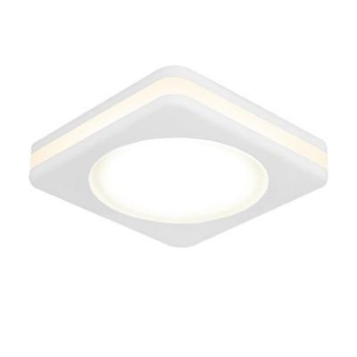 Светильник Gauss Backlight BL104 Квадрат. Белый, 8W, LED 3000K0Металлические<br><br><br>Цветовая t, К: 3000<br>Тип лампы: LED - светодиодная<br>Тип цоколя: LED, встроенные светодиоды<br>Цвет арматуры: белый<br>Количество ламп: 1<br>Ширина, мм: 80<br>Диаметр врезного отверстия, мм: 63<br>Длина, мм: 80<br>Высота, мм: 40<br>Поверхность арматуры: матовая<br>Оттенок (цвет): белый<br>MAX мощность ламп, Вт: 8