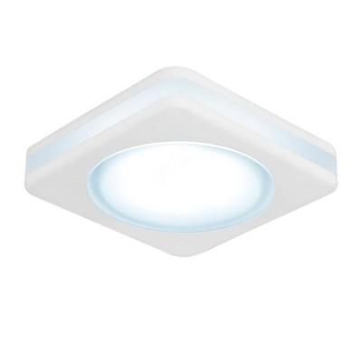 Светильник Gauss Backlight BL105 Квадрат. Белый, 8W, LED 4000K0Квадратные<br><br><br>Цветовая t, К: 4000<br>Тип лампы: LED<br>Тип цоколя: LED<br>Цвет арматуры: белый<br>Диаметр врезного отверстия, мм: 63