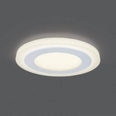 Светильник Gauss Backlight BL116 Кругл. Акрил, 6+3W, LED 3000K, ?145,Круглые<br><br><br>Цветовая t, К: 3000<br>Тип лампы: LED<br>Тип цоколя: LED<br>MAX мощность ламп, Вт: 6<br>Диаметр, мм мм: 145