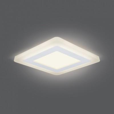 Светильник Gauss Backlight BL122 Квадрат. Акрил, 6+3W, LED 3000K, 145*145,