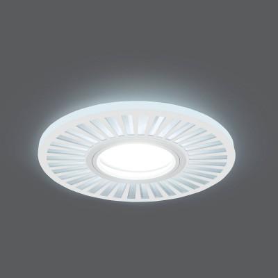 Светильник Gauss Backlight BL136 Кругл./узор. Белый, Gu5.3, 3W, LED 4000KКруглые<br><br><br>Тип лампы: галогенная/LED<br>Тип цоколя: GU5.3<br>MAX мощность ламп, Вт: 50