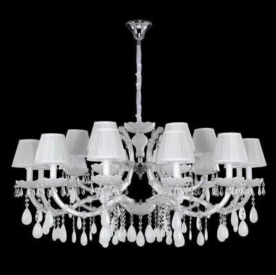 Люстра Crystal lux BLANCA SP18 1220/318Подвесные<br>Компания «Светодом» предлагает широкий ассортимент люстр от известных производителей. Представленные в нашем каталоге товары выполнены из современных материалов и обладают отличным качеством. Благодаря широкому ассортименту Вы сможете найти у нас люстру под любой интерьер. Мы предлагаем как классические варианты, так и современные модели, отличающиеся лаконичностью и простотой форм.  Стильная люстра Crystal lux BLANCA SP18 станет украшением любого дома. Эта модель от известного производителя не оставит равнодушным ценителей красивых и оригинальных предметов интерьера. Люстра Crystal lux BLANCA SP18 обеспечит равномерное распределение света по всей комнате. При выборе обратите внимание на характеристики, позволяющие приобрести наиболее подходящую модель. Купить понравившуюся люстру по доступной цене Вы можете в интернет-магазине «Светодом».<br><br>Установка на натяжной потолок: Да<br>S освещ. до, м2: 36<br>Тип цоколя: E14<br>Цвет арматуры: Серебристый хром /Белый/Прозрачный<br>Количество ламп: 18<br>Диаметр, мм мм: 1150<br>Длина цепи/провода, мм: 1500<br>Высота, мм: 500<br>MAX мощность ламп, Вт: 40