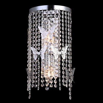 Светильник настенный бра Crystal lux BLOOM AP2 CHROME 1230/402хрустальные бра<br><br><br>Тип цоколя: E14<br>Цвет арматуры: Серебристый Серебристый хром<br>Количество ламп: 2<br>Ширина, мм: 110<br>Длина, мм: 200<br>Высота, мм: 400<br>MAX мощность ламп, Вт: 60