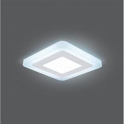 Светильник Gauss Backlight BL121 Квадрат. Акрил, 3+3W, LED 4000K, 105*105,Квадратные встраиваемые светильники<br><br><br>Цветовая t, К: 4000<br>Тип лампы: LED<br>Тип цоколя: LED<br>Ширина, мм: 105<br>Длина, мм: 105<br>Высота, мм: 31<br>MAX мощность ламп, Вт: 6