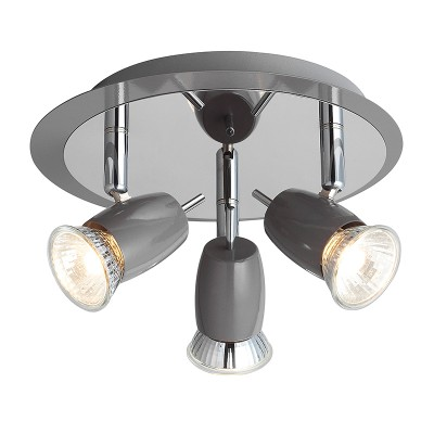 Светильник потолочный Brilliant G37934/52 KoraТройные<br>Светильники-споты – это оригинальные изделия с современным дизайном. Они позволяют не ограничивать свою фантазию при выборе освещения для интерьера. Такие модели обеспечивают достаточно качественный свет. Благодаря компактным размерам Вы можете использовать несколько спотов для одного помещения.  Интернет-магазин «Светодом» предлагает необычный светильник-спот Brilliant G37934/52 по привлекательной цене. Эта модель станет отличным дополнением к люстре, выполненной в том же стиле. Перед оформлением заказа изучите характеристики изделия.  Купить светильник-спот Brilliant G37934/52 в нашем онлайн-магазине Вы можете либо с помощью формы на сайте, либо по указанным выше телефонам. Обратите внимание, что у нас склады не только в Москве и Екатеринбурге, но и других городах России.<br><br>S освещ. до, м2: 6<br>Тип лампы: галогенная/LED<br>Тип цоколя: GU10<br>Цвет арматуры: серый хром<br>Количество ламп: 3<br>Ширина, мм: 130<br>Диаметр, мм мм: 205<br>Высота, мм: 115<br>Поверхность арматуры: матовый, глянцевый<br>MAX мощность ламп, Вт: 40<br>Общая мощность, Вт: 120