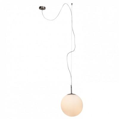 Светильник потолочный с подвесом Brilliant 93515/05 SunОжидается<br><br><br>Тип цоколя: Е27<br>Цвет арматуры: хром/белый<br>Количество ламп: 1x60W