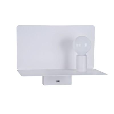 Настенный светильник Maytoni C182-TL-01-W RackХай-тек<br><br><br>Тип лампы: Накаливания / энергосбережения / светодиодная<br>Тип цоколя: E27<br>Цвет арматуры: Белый<br>Количество ламп: 1<br>Ширина, мм: 350<br>Глубина, мм: 195<br>Высота, мм: 258<br>MAX мощность ламп, Вт: 60
