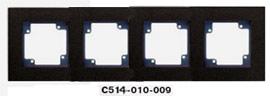 Гуси-Электрик С514-010-009 Рамка четырехместная (темно-серая платформа), цвет графитC5 Графит<br><br><br>Оттенок (цвет): серый