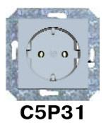 Гуси-Электрик С5Р31-004 Механизм розетки с БЗК, без ЗП, 16А/250V, цвет сереброC5 Серебро<br><br><br>Оттенок (цвет): серебристый
