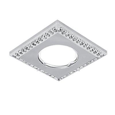 Светильник Gauss Strass CA036 Квадрат. Кристал/Хром, Gu5.3Квадратные<br>Встраиваемые светильники – популярное осветительное оборудование, которое можно использовать в качестве основного источника или в дополнение к люстре. Они позволяют создать нужную атмосферу атмосферу и привнести в интерьер уют и комфорт.   Интернет-магазин «Светодом» предлагает стильный встраиваемый светильник Gauss Strass CA036. Данная модель достаточно универсальна, поэтому подойдет практически под любой интерьер. Перед покупкой не забудьте ознакомиться с техническими параметрами, чтобы узнать тип цоколя, площадь освещения и другие важные характеристики.   Приобрести встраиваемый светильник Gauss Strass CA036 в нашем онлайн-магазине Вы можете либо с помощью «Корзины», либо по контактным номерам. Мы развозим заказы по Москве, Екатеринбургу и остальным российским городам.<br><br>S освещ. до, м2: 3<br>Тип лампы: галогенная/LED<br>Тип цоколя: GU5.3 (MR16)<br>Количество ламп: 1<br>MAX мощность ламп, Вт: 50<br>Диаметр, мм мм: 90<br>Диаметр врезного отверстия, мм: 60<br>Высота, мм: 35<br>Цвет арматуры: серебристый