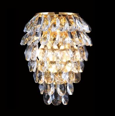 Светильник настенный бра Crystal lux CHARME AP2+2 LED GOLD/TRANSPARENT 1372/404Хрустальные<br><br><br>Тип цоколя: G9+LED<br>Цвет арматуры: Золотой<br>Количество ламп: 2+2<br>Ширина, мм: 130<br>Длина, мм: 190<br>Высота, мм: 250<br>MAX мощность ламп, Вт: 40+2